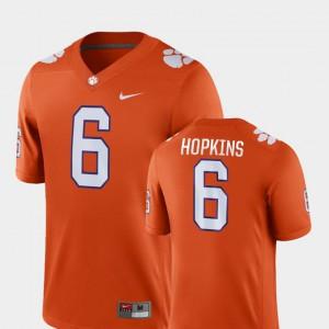 #6 College Football DeAndre Hopkins Clemson Jersey Game Orange Men 384434-634