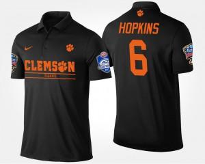 DeAndre Hopkins Clemson Polo Black Bowl Game #6 Men's Atlantic Coast Conference Sugar Bowl 623029-328