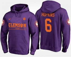 Purple #6 DeAndre Hopkins Clemson Hoodie For Men's 298588-947