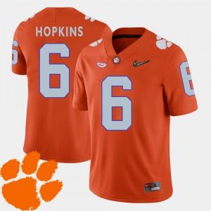 #6 For Men's DeAndre Hopkins Clemson Jersey College Football Orange 2018 ACC 251278-249