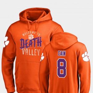 Deon Cain Clemson Hoodie #8 For Men's Orange Hometown Collection Logo 391892-848