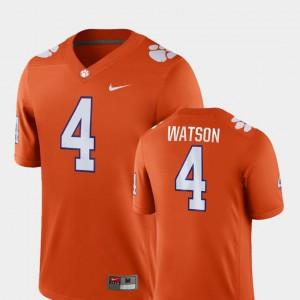 Mens #4 College Football Game Orange Deshaun Watson Clemson Jersey 492363-418