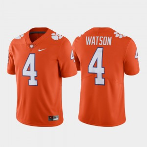 Mens Deshaun Watson Clemson Jersey Orange #4 Alumni Football Limited 989643-964