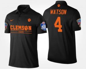 Bowl Game Atlantic Coast Conference Sugar Bowl #4 Deshaun Watson Clemson Polo Men's Black 218799-748