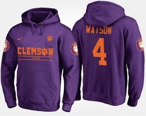 Purple #4 For Men's Deshaun Watson Clemson Hoodie 347943-940