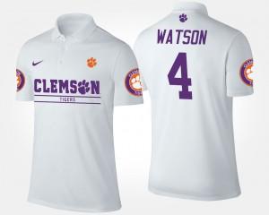 Deshaun Watson Clemson Polo White #4 Men's 335735-295