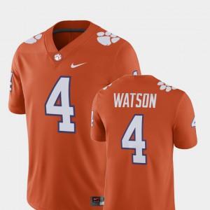 Deshaun Watson Clemson Jersey Player #4 Orange Alumni Football Game For Men 306465-370