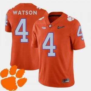 Orange DeShaun Watson Clemson Jersey 2018 ACC #4 College Football Men's 588280-169
