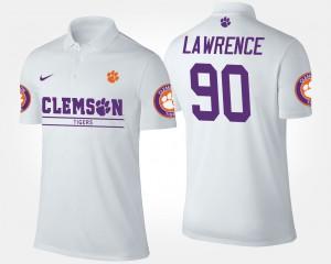 #90 Dexter Lawrence Clemson Polo Men White 625028-965