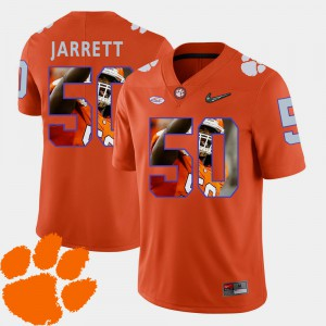 Grady Jarrett Clemson Jersey For Men Football Pictorial Fashion Orange #50 125921-551