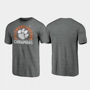 Offensive Tri-Blend Men's 2019 Fiesta Bowl Champions Gray Clemson T-Shirt 674029-527