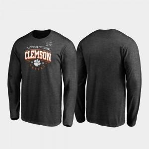 Heather Gray Clemson T-Shirt Men's Tackle Long Sleeve 2019 Fiesta Bowl Bound 816762-930