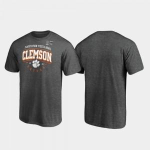 Heather Gray Men's Clemson T-Shirt Tackle 2019 Fiesta Bowl Bound 468811-579