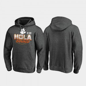 For Men's Clemson Hoodie College Football Playoff Defensive Heather Gray 2020 National Championship Bound 167019-503