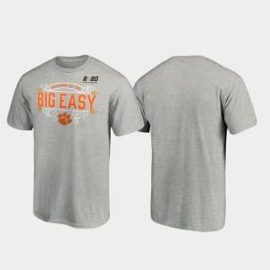 Heather Gray 2020 National Championship Bound Clemson T-Shirt Post College Football Playoff Mens 654631-128