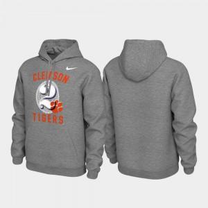 Clemson Hoodie Heathered Gray Men Local Phrase Pullover 891018-368