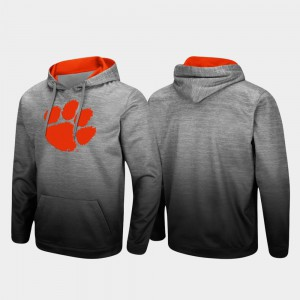 Clemson Hoodie Heathered Gray Sitwell Sublimated Mens Pullover 363639-380