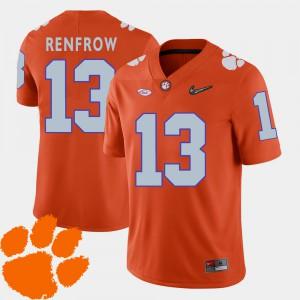 For Men Hunter Renfrow Clemson Jersey Orange 2018 ACC College Football #13 899917-892