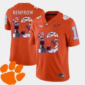 Orange Pictorial Fashion Hunter Renfrow Clemson Jersey #13 Football For Men 509662-927