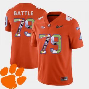 Pictorial Fashion #79 Orange Isaiah Battle Clemson Jersey Football Men 339464-649