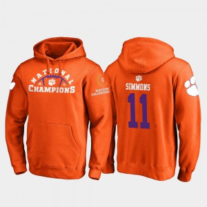 2018 National Champions Orange Men Isaiah Simmons Clemson Hoodie College Football Playoff Pylon #11 911406-815
