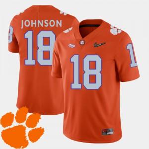 For Men's College Football 2018 ACC Jadar Johnson Clemson Jersey #18 Orange 180770-918