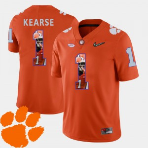 Pictorial Fashion Football #1 Orange For Men's Jayron Kearse Clemson Jersey 480691-541