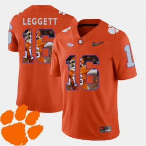 Pictorial Fashion Football Orange Jordan Leggett Clemson Jersey #16 Mens 316080-555