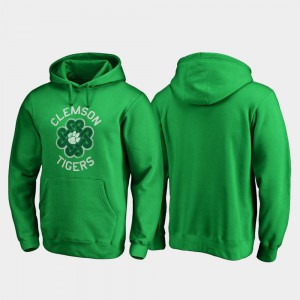 For Men's Clemson Hoodie Kelly Green Luck Tradition St. Patrick's Day 218700-985