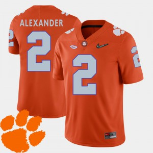 #2 Mackensie Alexander Clemson Jersey College Football Mens 2018 ACC Orange 854480-987