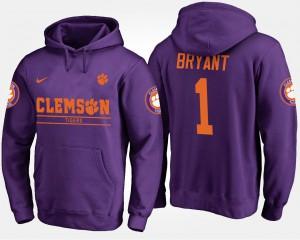 Martavis Bryant Clemson Hoodie For Men's #1 Purple 573638-212