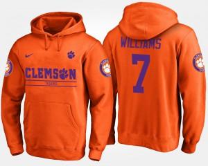 Mike Williams Clemson Hoodie Orange #7 Men's 191219-298
