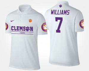 #7 White Men's Mike Williams Clemson Polo 169147-807