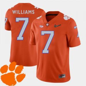 College Football Mens Orange Mike Williams Clemson Jersey #7 2018 ACC 317683-914