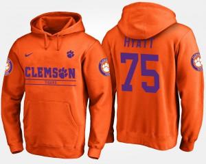 #75 Mitch Hyatt Clemson Hoodie Orange Men's 725321-372