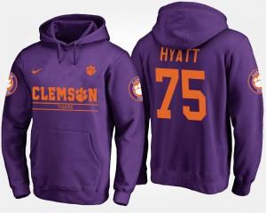 Purple Mens Mitch Hyatt Clemson Hoodie #75 636468-569