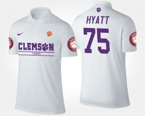 #75 White Men Mitch Hyatt Clemson Polo 693699-842