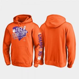 Orange College Football Playoff Nickel Clemson Hoodie Men 2018 National Champions 673756-317