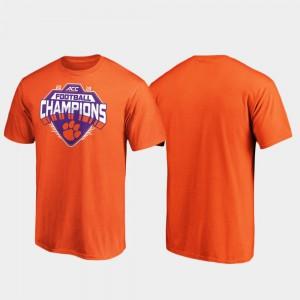 2019 ACC Football Champions For Men's Clemson T-Shirt Orange 492145-224