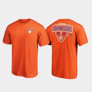 Orange 2019 Fiesta Bowl Champions Lateral Score College Football Playoff Clemson T-Shirt Mens 392903-485