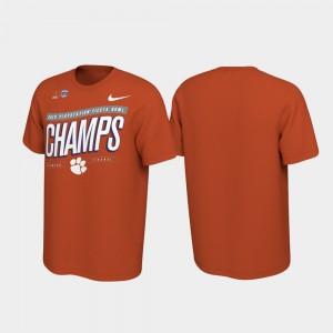 2019 Fiesta Bowl Champions For Men Clemson T-Shirt Orange Locker Room College Football Playoff 874994-872