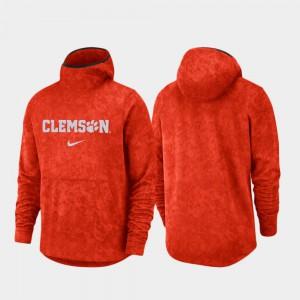 Mens Spotlight Basketball Team Logo Pullover Clemson Hoodie Orange 754026-417