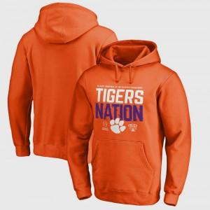 Men Clemson Hoodie Bowl Game Orange College Football Playoff 2018 Sugar Bowl Bound Delay 535287-546
