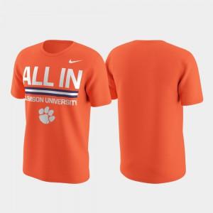 Clemson T-Shirt Performance Local Verbiage Men's Orange 497115-402