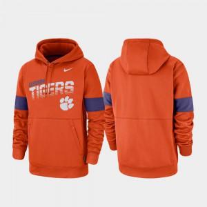 Men Performance Pullover Orange Clemson Hoodie 489180-174