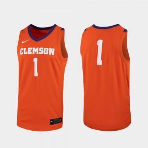 #1 For Men Replica Orange College Basketball Clemson Jersey 155336-310