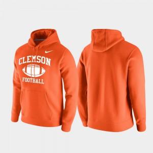 Orange Clemson Hoodie Club Fleece Retro Football For Men 338476-839