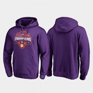 Purple College Football Playoff Gridiron 2018 National Champions Men Clemson Hoodie 887694-811