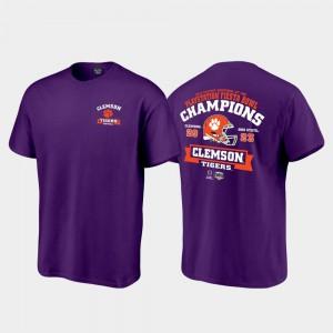 Clemson T-Shirt Purple 2019 Fiesta Bowl Champions Score College Football Playoff Men 322835-936