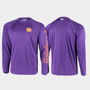 Clemson T-Shirt PFG Terminal Tackle Long Sleeve Purple Omni-Shade For Men's 696835-201